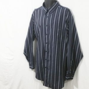 ROUNDTREE YORKE Button Front Collar Shirt 3XLT